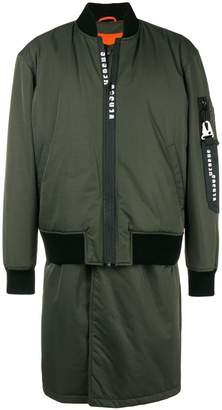 Versus long bomber jacket