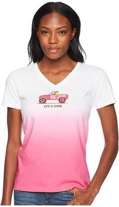 Life is Good 4X4 Rocket Crusher Vee Tee Women's T Shirt