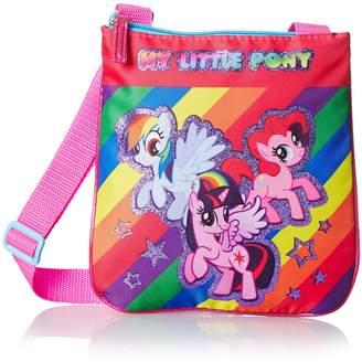 My Little Pony Girls Rainbow Stripe Passport Bag