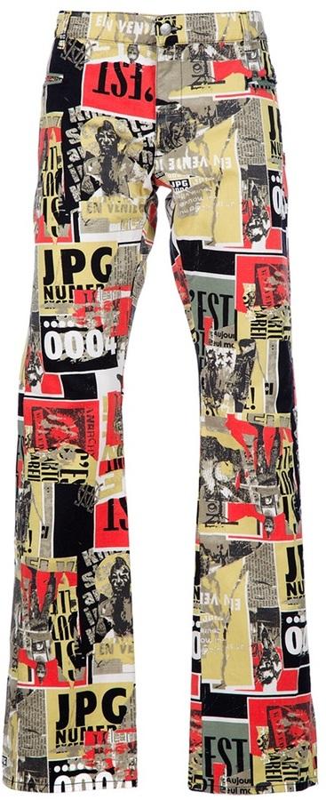 Jean Paul Gaultier Vintage Printed jean