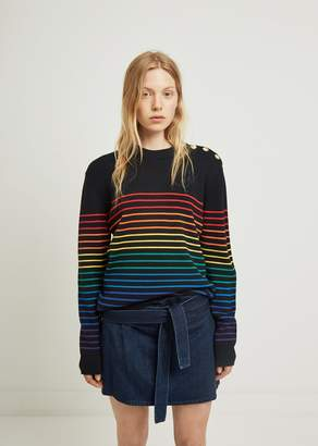 J.W.Anderson Rainbow Mariniere Sweater Navymulti