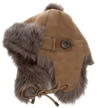 Karl Donoghue Suede Shearling-Lined Hat