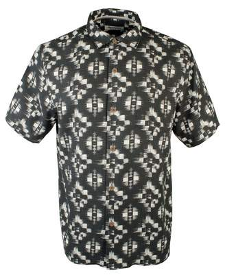 Tommy Bahama Men's Mazatlan Geo IslandZone Technology Camp Shirt-BLK-L