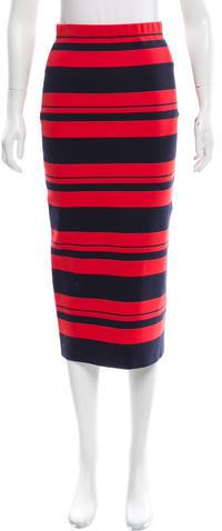 DKNYDKNY Striped Midi Skirt