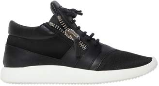 Giuseppe Zanotti Design 20mm Leather & Suede Sneakers