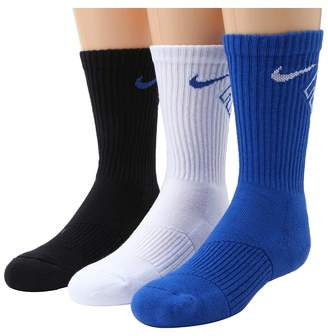 Nike Graphic Cotton Cushion Crew 3-Pair Pack Boys Shoes