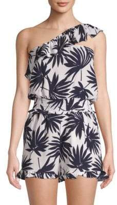 Lucca Couture Kinsley Palm-Print Romper