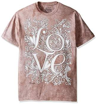 The Mountain Men's Colorwear Letters & Words 10 Love Adult Coloring T-Shirt