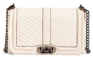 Rebecca Minkoff 'Chevron Quilted Love' Crossbody Bag - Pink $295 thestylecure.com