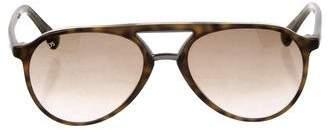Tod's Tortoiseshell Aviator Sunglasses