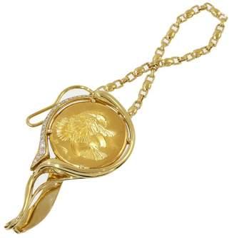 Piaget 18K Yellow Gold Diamonds Necktie Tie Pin