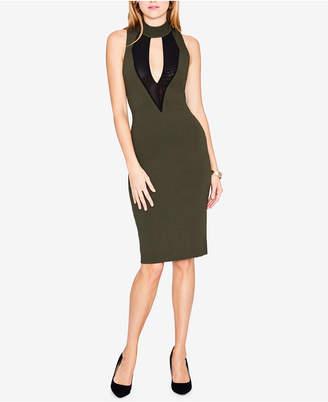 Rachel Roy Corset & Mesh Bodycon Dress