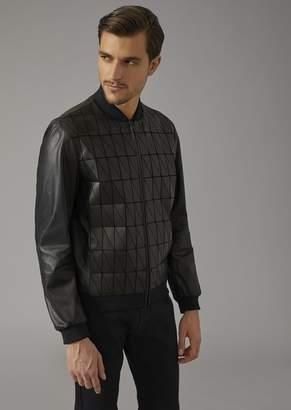 Giorgio Armani Jacket In Square-Cut Nappa Leather