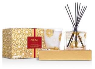 NEST Fragrances Birchwood Pine Candle & Diffuser Set