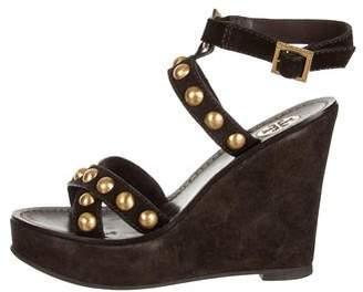 Tory Burch Stud-Embellished Wedge Sandals