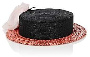 Albertus Swanepoel Women's 10th Anniversary Desborough Boater Hat - Black