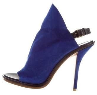 Balenciaga Suede Glove Sandals