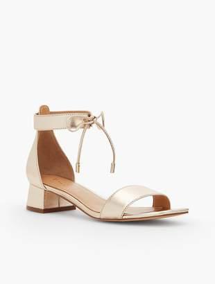 Talbots Naomi Metallic Leather Sandals