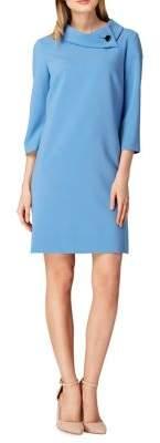 Tahari Arthur S. Levine Petite Button-Neck Sheath Dress