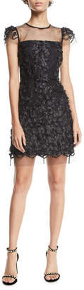 Milly Nickie Tulle Feather & Embroidery Dress