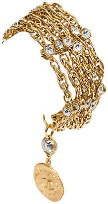 One Kings Lane Vintage Chanel Multi-Strand Crystal Bracelet - Vintage Lux