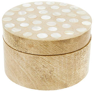 Monsoon Mother Of Pearl Wooden Box
