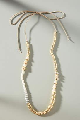 Anthropologie Sandra Beaded Tie Necklace