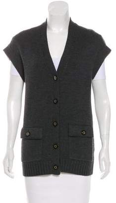 Tory Burch Button-Up Wool Vest