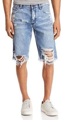 PRPS Goods & Co. Regular Fit Destroyed Jean Shorts