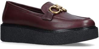 Salvatore Ferragamo Leather Brez Platforms