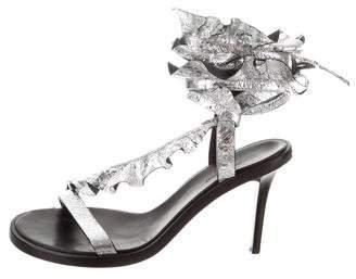 Isabel Marant Metallic Lace-Up Sandals
