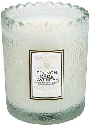 Voluspa French Cade Lavender Boxed Scallop Candle