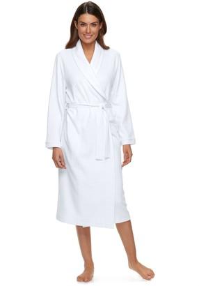 Croft & Barrow Women's Waffle-Knit Long Kimono Robe