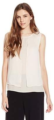 Lark & Ro Women's Sleeveless Layered Top