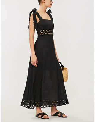 Zimmermann Verity square-neck strappy linen dress