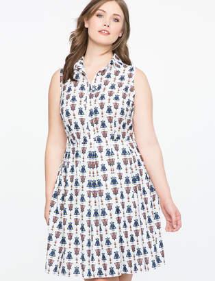 ELOQUII Sleeveless Conversational Dress