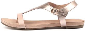 Django & Juliette Janae Nude-rose gold Sandals Womens Shoes Casual Sandals-flat Sandals