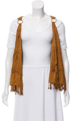 Camilla Fringed Suede Vest w/ Tags