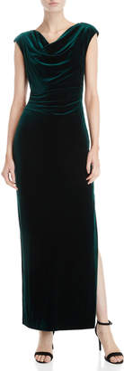 Vince Camuto Emerald Green Velvet Gown