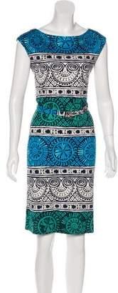 Tory Burch Silk Short-Sleeve Knee-Length Dress