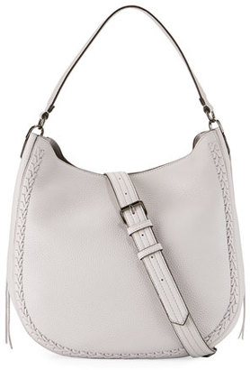 Rebecca Minkoff Convertible Pebbled Hobo Bag, Light Gray $325 thestylecure.com