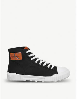 Office Bixi hi-top canvas trainers
