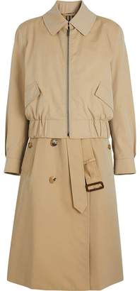 Burberry Tropical Gabardine Reconstructed Harrington Jacket
