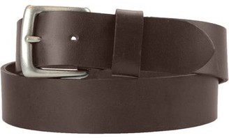 Montauk Leather Club 1-1/2 in. US Steer Hide Harness Leather Men's Belt w/ Antq. Nickel Buckle