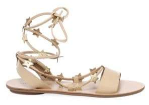 Loeffler Randall Star Leather Ankle-Strap Sandals