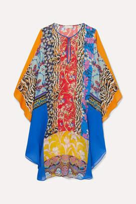 Etro Printed Silk-chiffon Kaftan - Blue