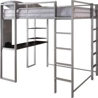 LOFT Dorel DHP Full Metal Bed Over Workstation Desk, Multiple Colors