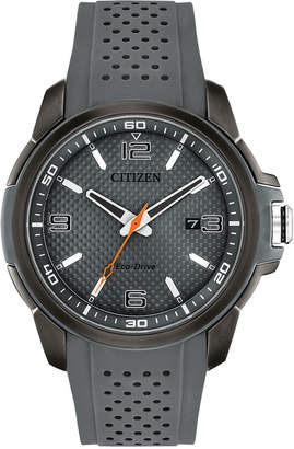 Citizen Drive From Eco-Drive Men's Gray Polyurethane Strap Watch 45mm