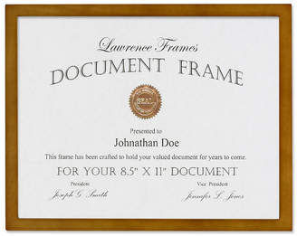 "Lawrence Frames 766081 Nutmeg Wood Picture Frame - 8.5"" x 11"""