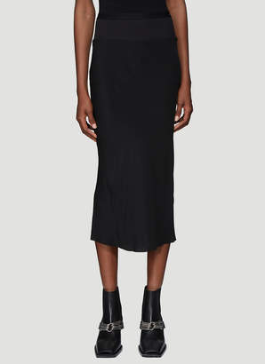 Rick Owens Ribbed Knit Skirt in Black